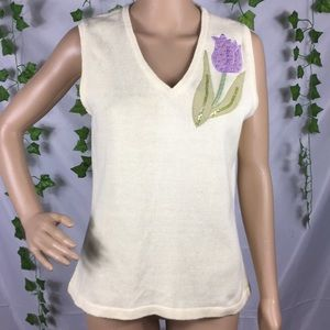 Storybook Knits transitional Tulip sweater vest